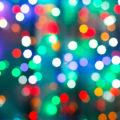 blurred christmas illumination in dark night in city